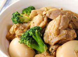 お酢で鶏肉と卵のさっぱり煮