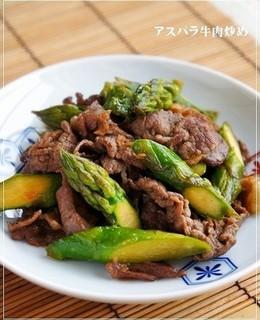 お弁当にもつまみにも アスパラ牛肉炒め