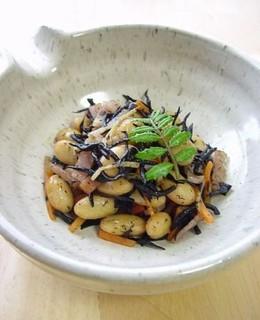 大豆とひじきの小鉢