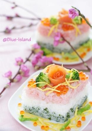 ひな祭り寿司 ひしもち風