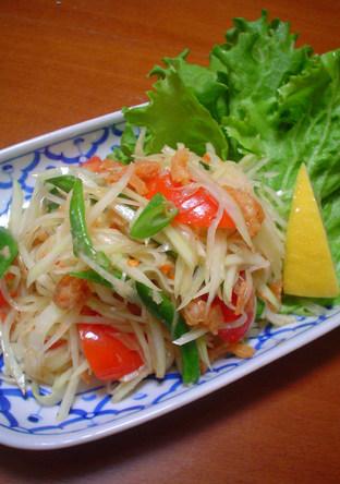 ソムタム 青いパパイヤのサラダ