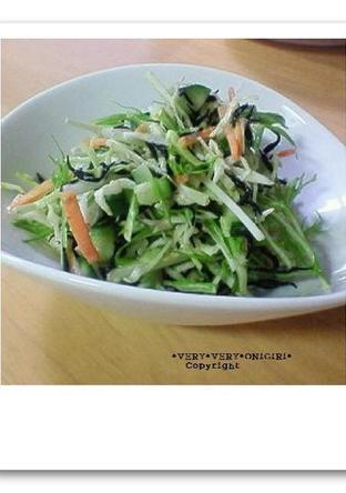 簡単 ひじきと野菜の五品目サラダ