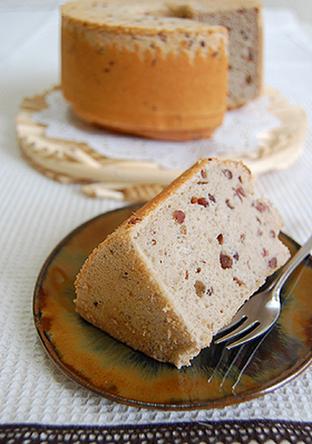 ノンオイル 小豆シフォンケーキ