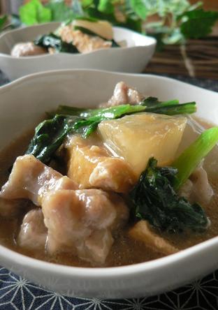 鶏肉と大根の酒粕治部煮