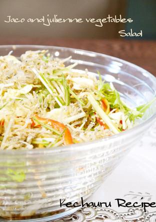 せん切り野菜とじゃこのさっぱりサラダ
