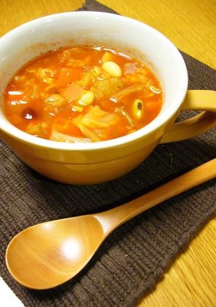 雑穀米使用 具だくさんトマトスープ