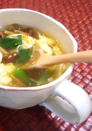 なめこと卵の中華スープ