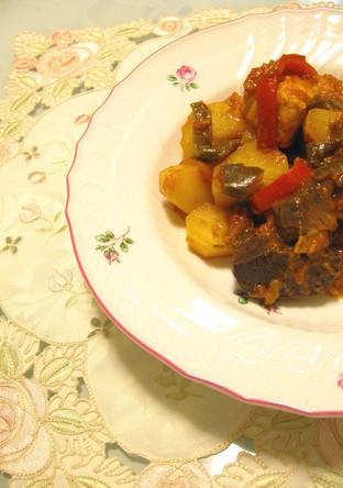 スペイン料理 マグロのバスク風煮込み