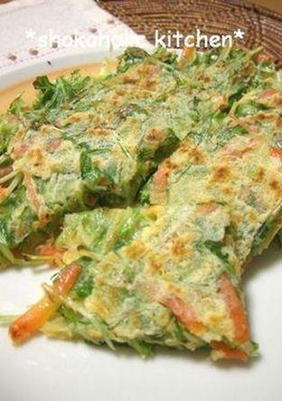 シャキシャキ 水菜のチヂミ