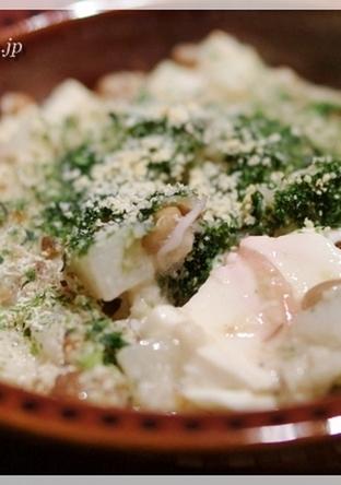 豆腐の長芋納豆焼き