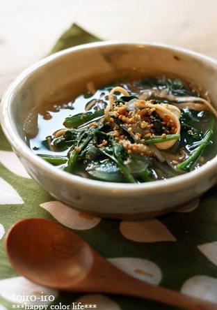 具だくさん 中華風食べるスープ