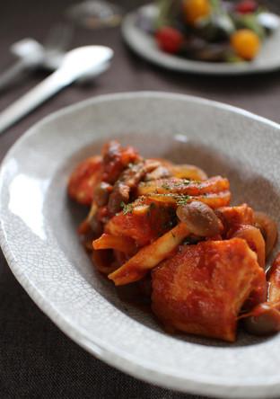 生鮭ときのこのトマト煮