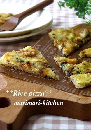 カルシウムたっぷり ごはんのしらすピザ