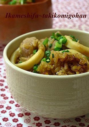 イカ飯風 里芋とイカの炊き込みご飯