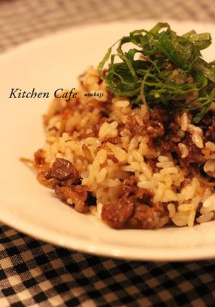 牛肉とごぼうの炒飯