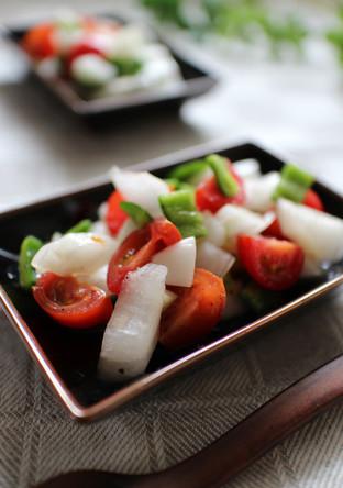 新玉ねぎのノンオイル簡単サラダ