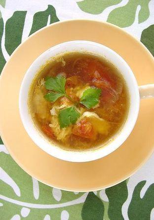 トマトと卵の優しいスープ
