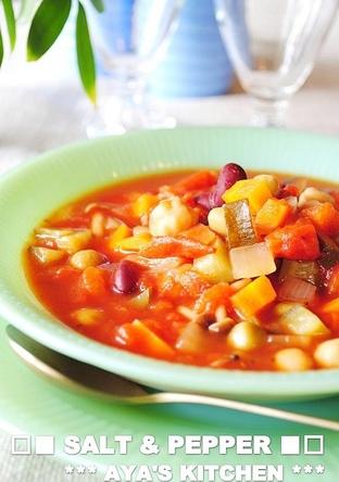 ミックスビーンズ トマトスープ