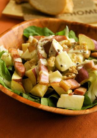さつまいもとりんごの秋サラダ