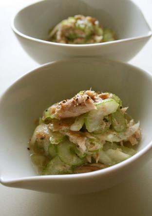 セロリとツナの簡単サラダ