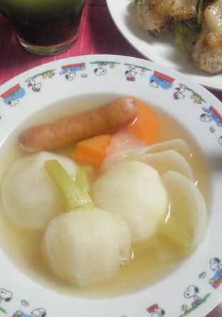 カブとろっコンソメスープ