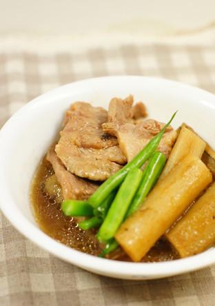 圧力鍋で豚肉とごぼうの中華風煮