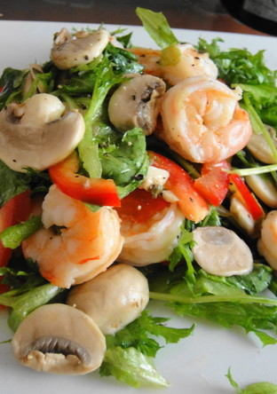海老とマッシュルームのサラダ