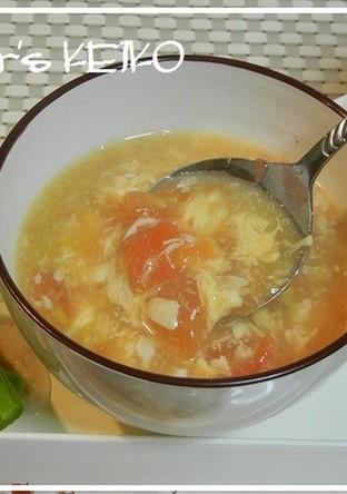 トマトと玉子のとろとろコンソメスープ