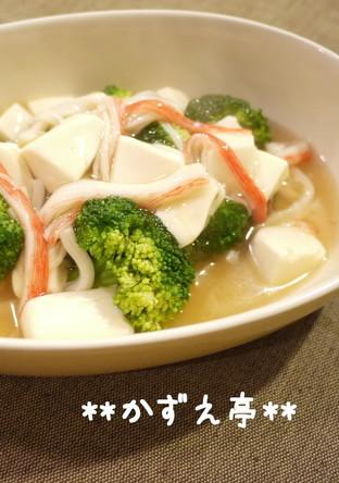 とろとろ ブロッコリーの豆腐あんかけ