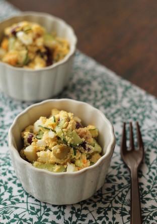 豆と卵のおからサラダ