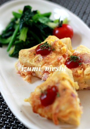 高野豆腐のピカタ カルボナーラ味