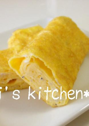 カルシウム補給 しらす入りの卵焼き