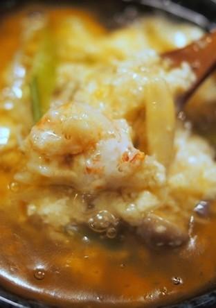豆腐と蟹のとろろ蒸し