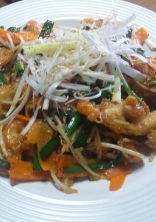 鶏肉と野菜のピリ辛味噌炒め
