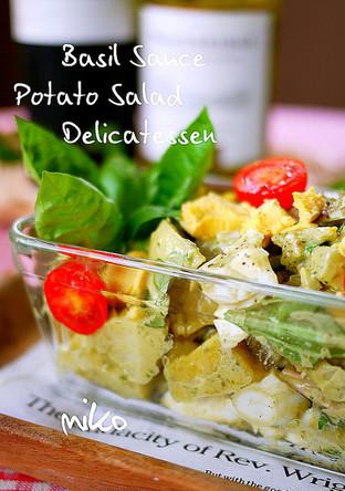 デリ風 バジルソースでポテトサラダ