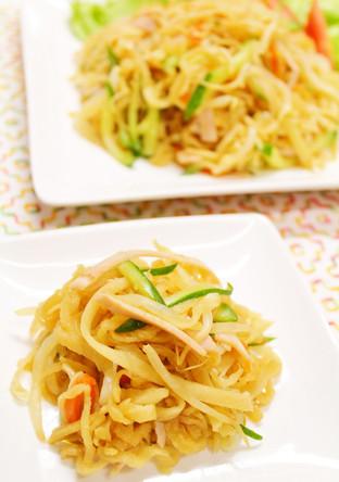 野菜たっぷり 切り干し大根の中華風サラダ