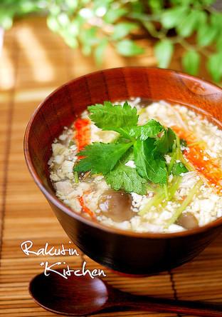 卵と豆腐の茶碗蒸し風とろみ汁
