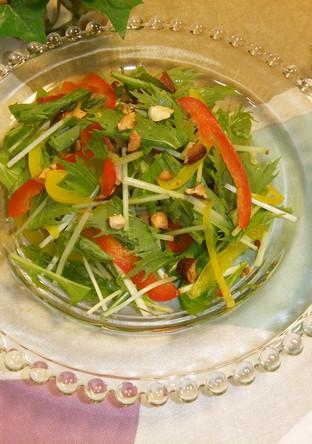 水菜とパプリカのおしゃれサラダ