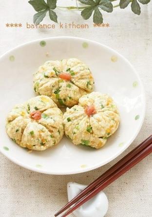 お弁当に レンジで作る豆腐茶巾