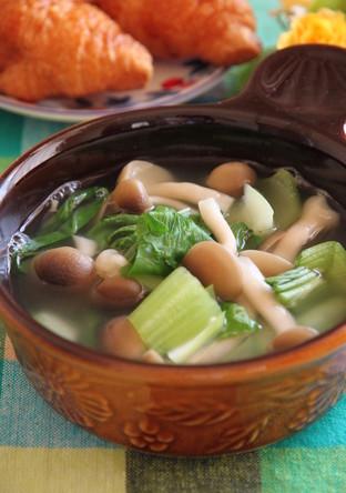 しめじとチンゲン菜の塩麹スープ