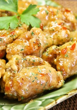 鶏もものアジアン唐揚げ スイチリマヨ和え