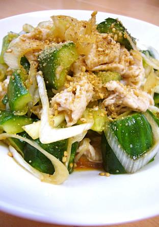 おつまみ 豚しゃぶと叩き胡瓜の中華サラダ