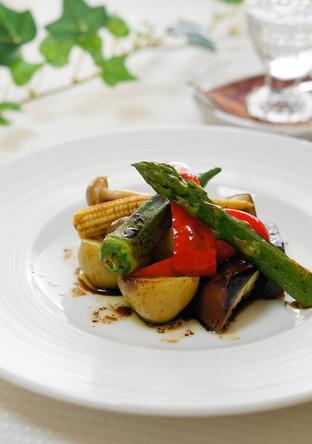 グリル野菜のバルサミコソースがけ