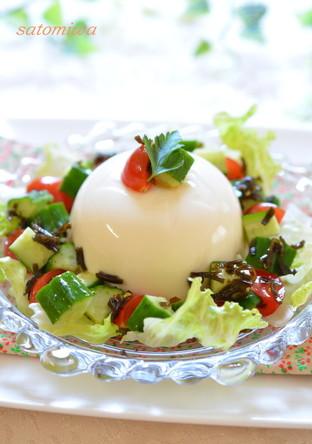 塩こんぶで簡単美味 ヘルシー豆腐サラダ
