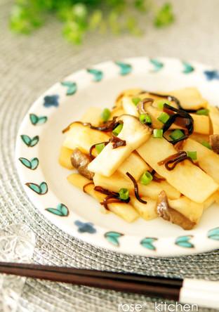 長芋とエリンギの塩昆布バターソテー