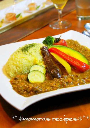 挽肉で簡単 夏野菜たっぷりのキーマカレー