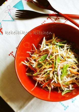 ごぼうのきんぴらの彩り野菜和え
