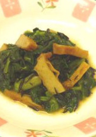 懐かしの味♪青菜とさつま揚げの煮浸し