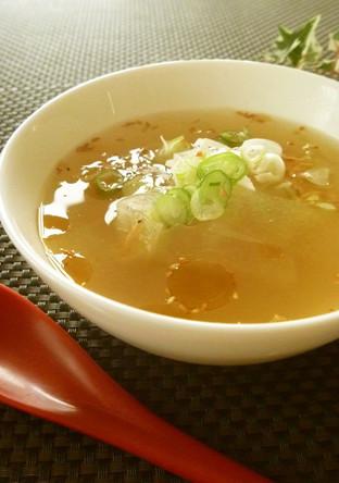 冬瓜と桜えびの中華スープ 生姜風味