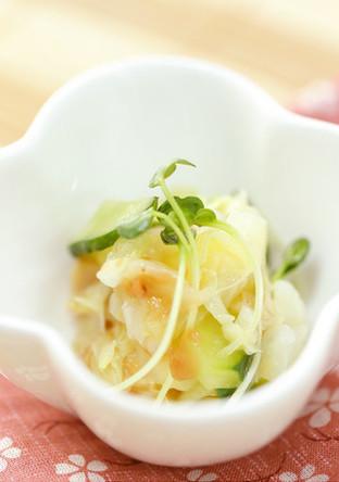 和テイスト 貝柱入り野菜の梅肉和え
